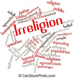 Word cloud for Irreligion - Abstract word cloud for...