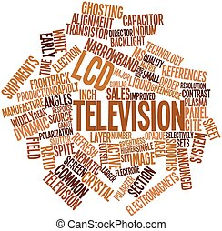 LCD television - Abstract word cloud for LCD television with...