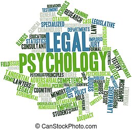 Legal psychology - Abstract word cloud for Legal psychology...