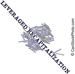 Leveraged recapitalization - Abstract word cloud for...