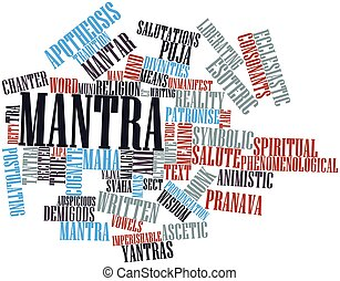 Word cloud for Mantra - Abstract word cloud for Mantra with...