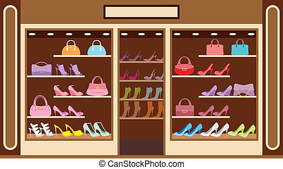 Shop of shoe - Vector illustration It is created in the...