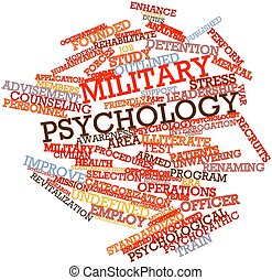 Military psychology - Abstract word cloud for Military...
