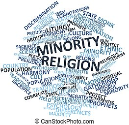 Word cloud for Minority religion - Abstract word cloud for...