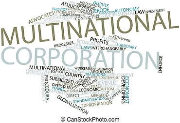 Word cloud for Multinational corporation - Abstract word...