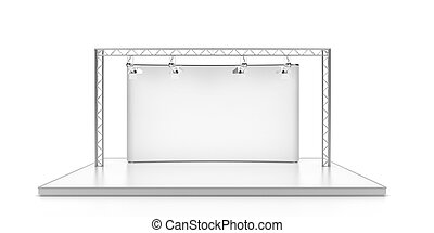 Empty stage with lightspots