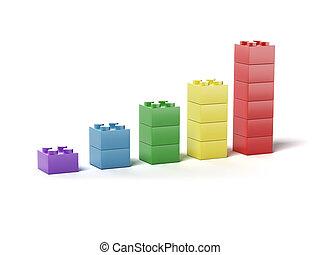 プラスチック, 建物, ブロック, チャート