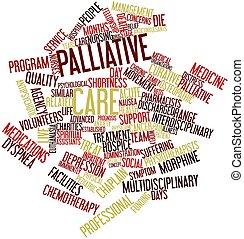 palabra, nube, Palliative, cuidado