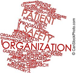Patient safety organization - Abstract word cloud for...