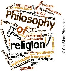 Philosophy of religion - Abstract word cloud for Philosophy...