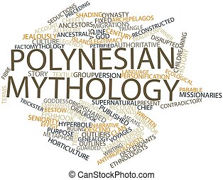 Polynesian mythology - Abstract word cloud for Polynesian...