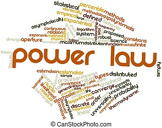 Power law - Abstract word cloud for Power law with related...