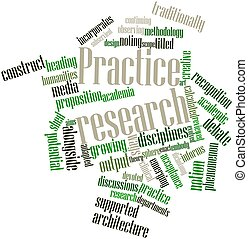 Practice research - Abstract word cloud for Practice...