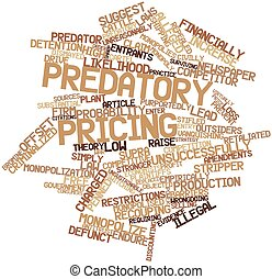 Word cloud for Predatory pricing - Abstract word cloud for...