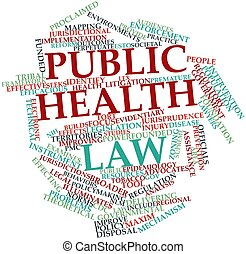 Public health law - Abstract word cloud for Public health...