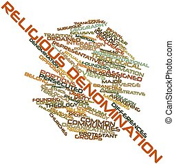 Word cloud for Religious denomination - Abstract word cloud...