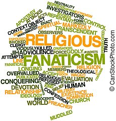 Word cloud for Religious fanaticism - Abstract word cloud...