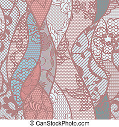 Lace seamless pattern with flowers on pastel background