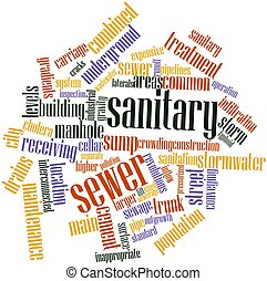 Word cloud for Sanitary sewer - Abstract word cloud for...