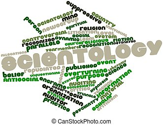 Scientology - Abstract word cloud for Scientology with...