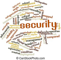 Security - Abstract word cloud for Security with related...