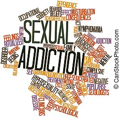 Sexual addiction - Abstract word cloud for Sexual addiction...