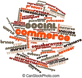 Social commerce - Abstract word cloud for Social commerce...