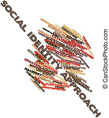 Social identity approach - Abstract word cloud for Social...