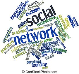Word cloud for Social network - Abstract word cloud for...