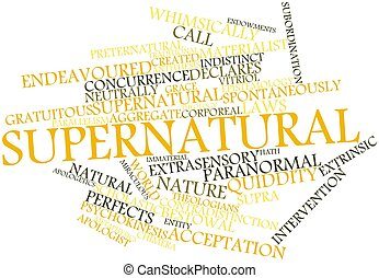 Supernatural - Abstract word cloud for Supernatural with...