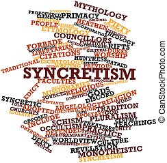 Syncretism - Abstract word cloud for Syncretism with related...
