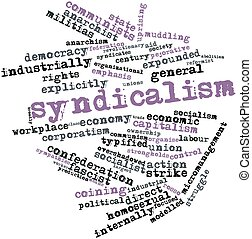 Syndicalism - Abstract word cloud for Syndicalism with...