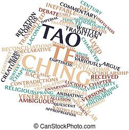 Word cloud for Tao Te Ching - Abstract word cloud for Tao Te...