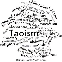 Word cloud for Taoism - Abstract word cloud for Taoism with...