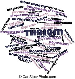 Word cloud for Theism - Abstract word cloud for Theism with...