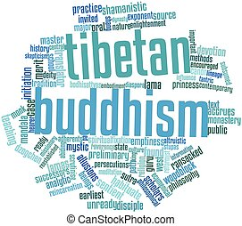 Word cloud for Tibetan Buddhism - Abstract word cloud for...