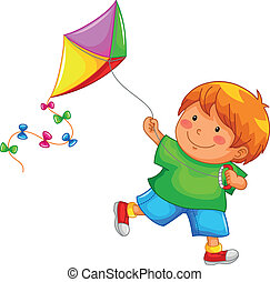 bpy and his kite - little boy playing with his kite