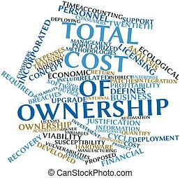 Total cost of ownership - Abstract word cloud for Total cost...