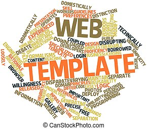 Web template - Abstract word cloud for Web template with...