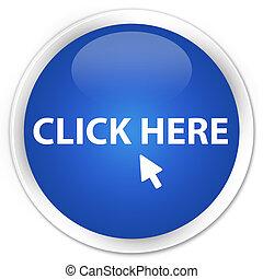 Click here icon blue button