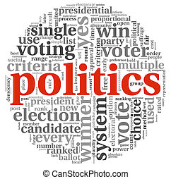 Plitics and vote concept - Politics and election concept in...