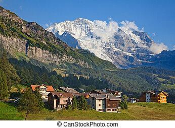 mount Jungfrau - Famous mount Jungfrau in the swiss alps