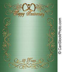 50th, anniversario, verde