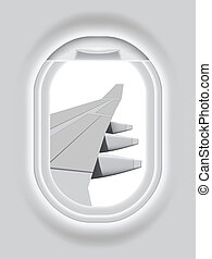 Aircraft s Porthole - Layered vector illustration of...