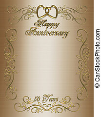 50th Anniversary - Illustration composition 3D design for...