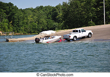 Boating In Indiana, USA - Boating on Brookville Lake in...