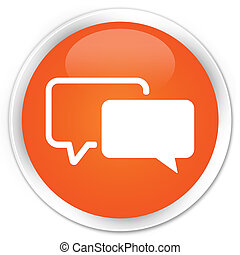 Testimonials icon orange button - Testimonials icon glossy...