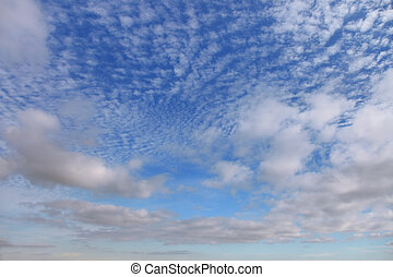 Cirrus clouds against the blue sky - Beautiful cirrus clouds...
