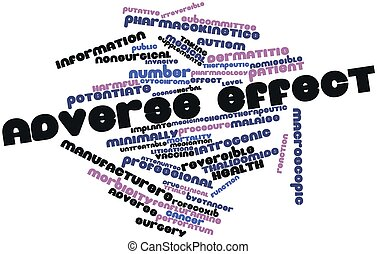 Adverse effect - Abstract word cloud for Adverse effect with...
