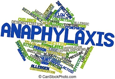 Anaphylaxis - Abstract word cloud for Anaphylaxis with...